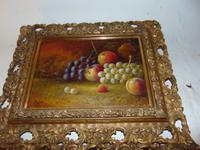 Pair of Still Life Oil on Canvas by H.L.Lewis (11 of 11)