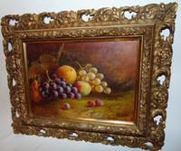 Pair of Still Life Oil on Canvas by H.L.Lewis (2 of 11)