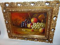 Pair of Still Life Oil on Canvas by H.L.Lewis (3 of 11)