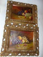 Pair of Still Life Oil on Canvas by H.L.Lewis (9 of 11)