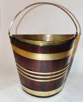 Georgian Mahogany Brass Bound Bucket