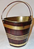 Georgian Mahogany Brass Bound Bucket (3 of 7)