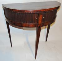 Dutch Mahogany Half Round Side Table (2 of 8)