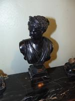 French 19th Century Marble & Bronze Desk Set (2 of 7)