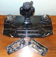 French 19th Century Marble & Bronze Desk Set (3 of 7)