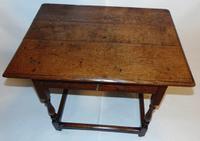 Early 18th Century Oak Side Table (2 of 7)