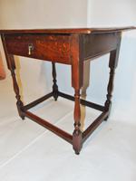 Early 18th Century Oak Side Table (4 of 7)