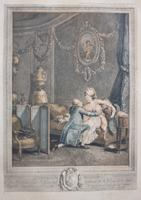 F. Petitjean Boudoir Etching 'L'heureux Moment'