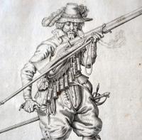 Jacob De Gheyn Musketeer Pair Military Engravings 1608