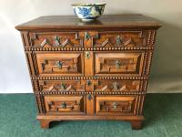 Late 17th Century Oak Geometric Chest of Drawers
