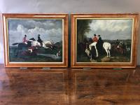 Pair of English Hunting Scenes c.1850