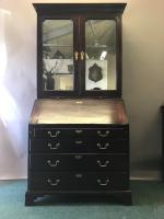 18th Century Red Walnut Bureau Bookcase