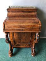 Victorian Pop-up Burr Walnut Davenport