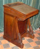 Exceptional Regency Period Rosewood Davenport Desk C.1830