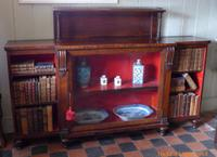 Early 19th Century Rosewood Bookcase Display Cabinet