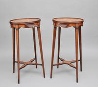 Pair of Sheraton Revival Mahogany & Inlaid Urn Stands (2 of 15)