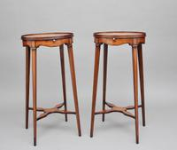 Pair of Sheraton Revival Mahogany & Inlaid Urn Stands (7 of 15)