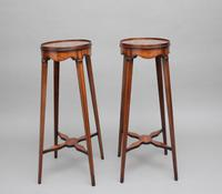 Pair of Sheraton Revival Mahogany & Inlaid Urn Stands (9 of 15)
