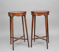Pair of Sheraton Revival Mahogany & Inlaid Urn Stands (10 of 15)