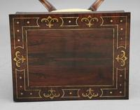 Early 19th Century Rosewood & Brass Inlaid Work Table (7 of 13)