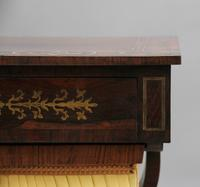 Early 19th Century Rosewood & Brass Inlaid Work Table (5 of 13)