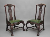 Pair of 18th Century Walnut Portuguese Chairs