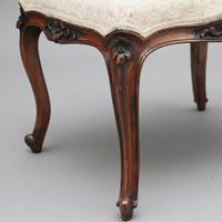 19th Century Walnut Stool (6 of 8)