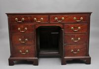 18th Century Mahogany Kneehole Desk (2 of 13)