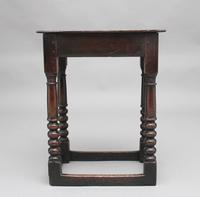 Early 18th Century Oak Joint Stool (3 of 8)