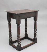 Early 18th Century Oak Joint Stool (2 of 8)