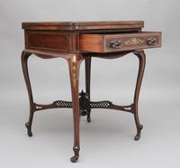 19th Century Inlaid Envelope Table (2 of 16)