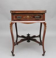 19th Century Inlaid Envelope Table (3 of 16)