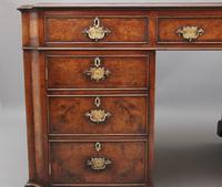 Early 20th Century Burr Walnut Desk (14 of 15)