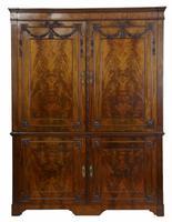 Dutch Mahogany Press Cupboard c.1820