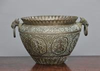 19th Century Engraved Brass Bowl