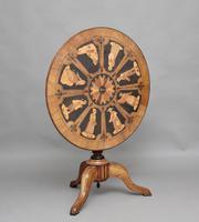 19th Century Sorrento Marquetry Tripod Table