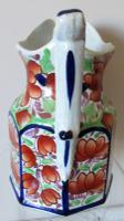 """Antique Victorian Gaudy Welsh """"Gwent"""" Pattern Pottery Jug (2 of 6)"""