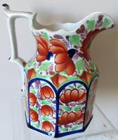 """Antique Victorian Gaudy Welsh """"Gwent"""" Pattern Pottery Jug (3 of 6)"""