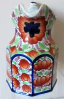 """Antique Victorian Gaudy Welsh """"Gwent"""" Pattern Pottery Jug (4 of 6)"""