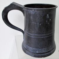 Antique English Georgian Pewter Pint Mug ~ Villers & Wilkes ~ Birmingham ~ Cotterell O.P. 4876 (3 of 5)