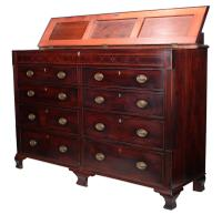 Large 18th Century Mahogany Mule Chest (3 of 10)