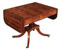 Regency Rosewood Drop Leaf Sofa Table