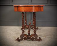 Victorian Burr Walnut Library Table (13 of 15)
