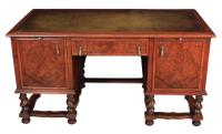 Walnut Leather Top Desk in the Style of William & Mary (3 of 13)