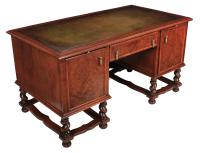 Walnut Leather Top Desk in the Style of William & Mary (4 of 13)