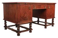 Walnut Leather Top Desk in the Style of William & Mary (7 of 13)