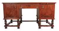 Walnut Leather Top Desk in the Style of William & Mary (8 of 13)