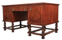 Walnut Leather Top Desk in the Style of William & Mary (9 of 13)