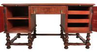 Walnut Leather Top Desk in the Style of William & Mary (10 of 13)