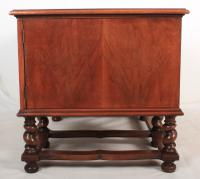 Walnut Leather Top Desk in the Style of William & Mary (2 of 13)